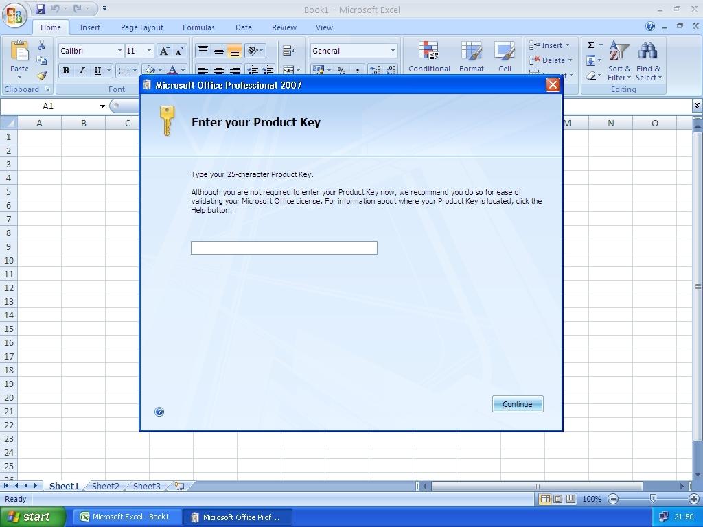 Ключ Продукта Microsoft Office 2007